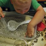 "Sensory bins for toddlers: I call this a ""super mom"" moment"