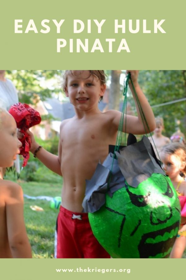 Easy DIY Hulk Pinata