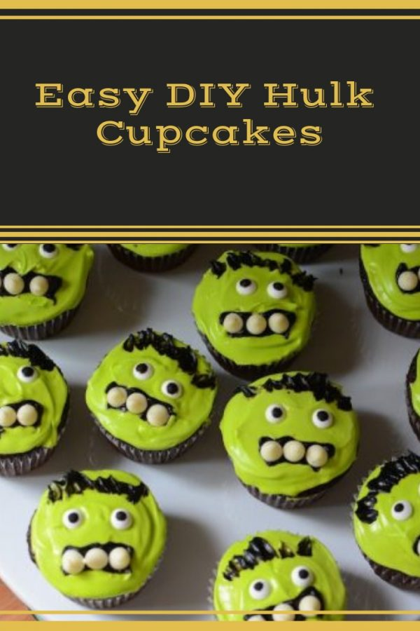 Easy DIY Incredible Hulk or Frankenstein cupcakes