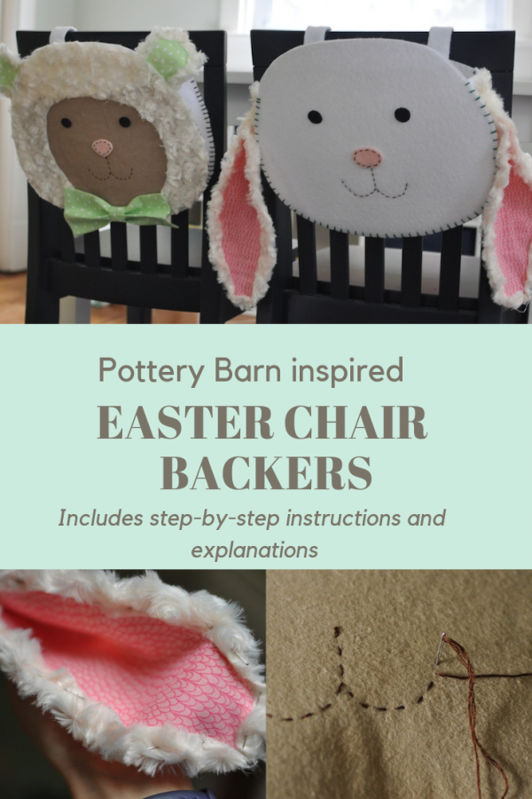 Pottery Barn inspired Easter Chair Backer