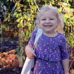 Anna's first day of preschool
