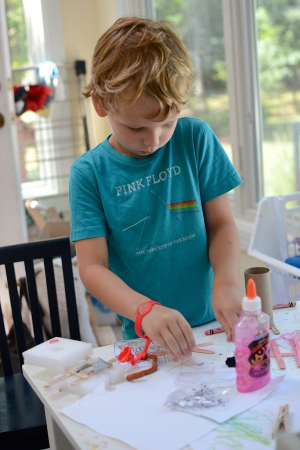 A space for mess, creativity, and kids (three things that are
