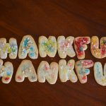 Homemade Thankful cookies