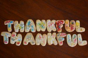 Homemade Thankful cookies