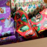Disney-themed paper packages tied up with strings