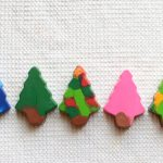 Melted-crayon Christmas trees