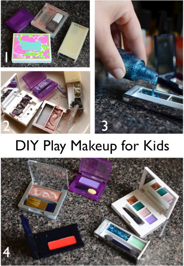 no-mess diy play makeup for kids