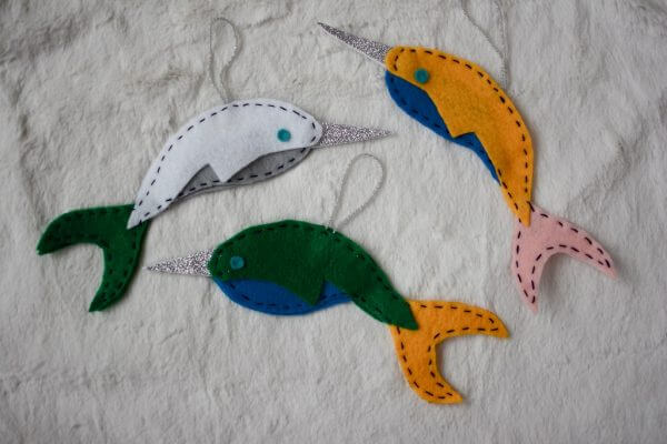 diy_narwhal_ornaments 1