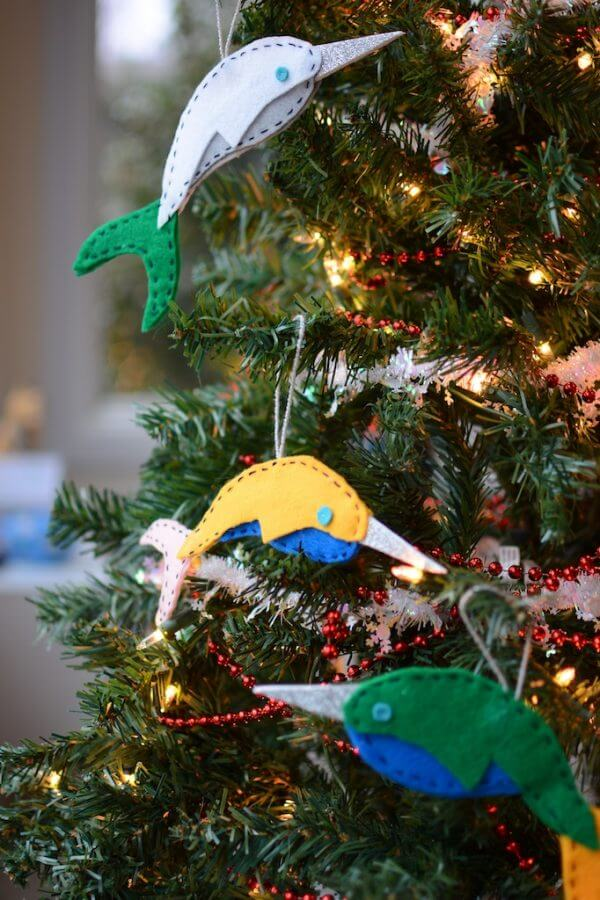 diy_narwhal_ornaments 4 - Narwhal Christmas Decoration