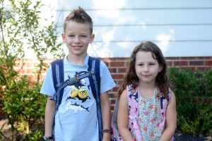 The first day of school – 2nd and 1st grades