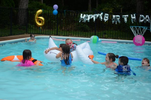 A Sixth Birthday Theme Rained Out Pool Party Living On