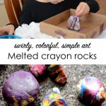 Melted-crayon rocks