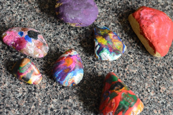 melted crayon rocks 7
