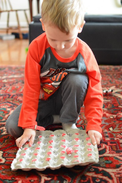 DIY number recognition game