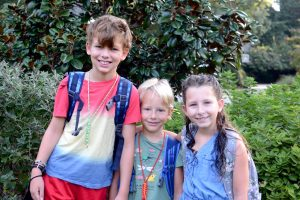 The first week of 4th, 3rd, and kindergarten