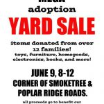 Attention Attention: Adoption Yard Sale
