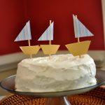A sailboat birthday party