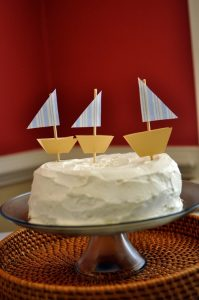 A sailboat birthday party