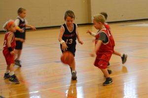 David's very first basketball game