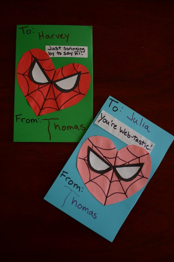 Easy DIY Spiderman Valentines for kids and toddlers